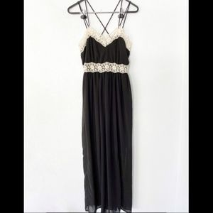 NWT Altar'd State Strappy Black Lace Maxi Dress